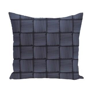 16 x 16-inch Basketweave Geometric Print Pillow