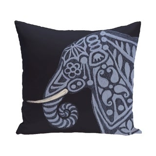 18 x 18-inch Blue, Grey, Brown Inky Animal Print Pillow