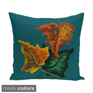 18 x 18-inch Autumn Colors Floral Print Pillow