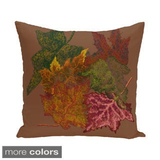 18 x 18-inch Autumn Leaves Floral Print Pillow