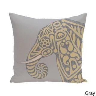 26 x 26-inch Inky Animal Print Pillow (Gray)