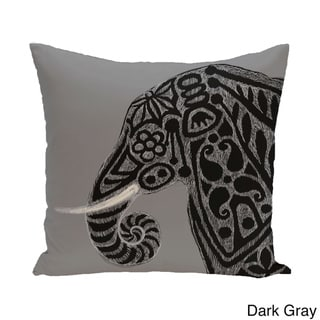 26 x 26-inch Inky Animal Print Pillow (Dark Gray)