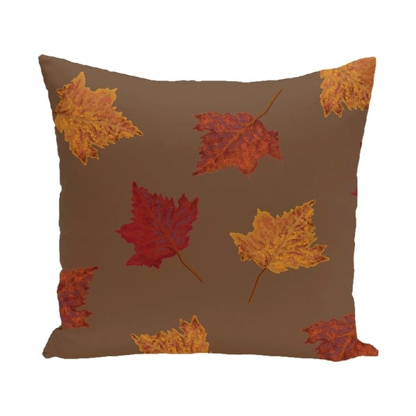 18 x 18-inch Dancing Leaves Floral Print Pillow