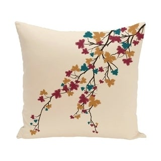 18 x 18-inch Maple Hues Floral Print Pillow