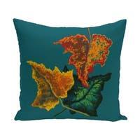26 x 26-inch Autumn Colors Floral Print Pillow