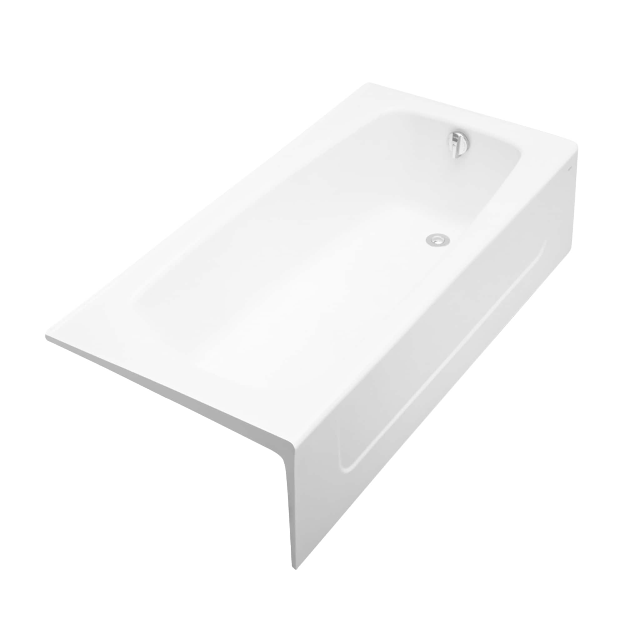 Picture of: Shop Toto Right Hand Cast Iron Bathtub 66 X 32 X 16 5 16 Cotton White Fby1715rp 01 Overstock 10508307