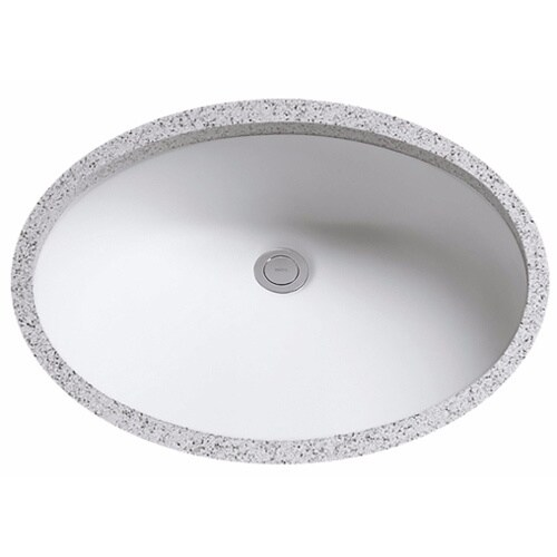 Toto lt579g 01 cotton white rendezvous undermount vitreous china bathroom sink free shipping for Toto undermount bathroom sink