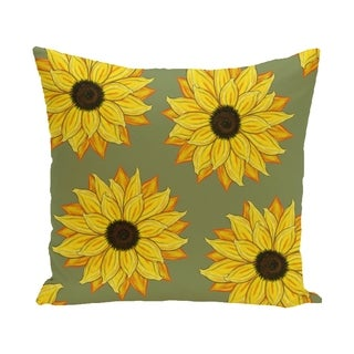 18 x 18-inch SunFloral Power Floral Print Pillow