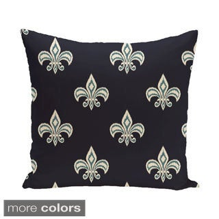 18 x 18-inch Fleur de Lis Ikat Print Pillow
