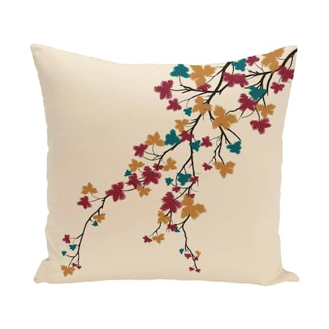 26 x 26-inch Maple Hues Floral Print Pillow