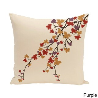 26 x 26-inch Maple Hues Floral Print Pillow (3 options available)