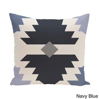 18 x 18-inch Mesa Geometric Print Pillow (Blue)