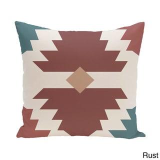 18 x 18-inch Mesa Geometric Print Pillow (Brown)