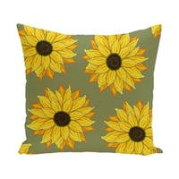 26 x 26-inch SunFloral Power Floral Print Pillow