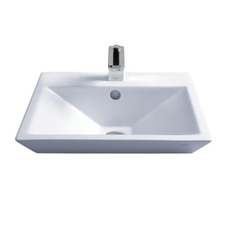 Toto LT172.8G#01 Cotton White Kiwami Above Counter/Vessel Porcelain Bathroom Sink