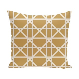 20 x 20-inch Trellis Geometric Print Pillow (Gold)
