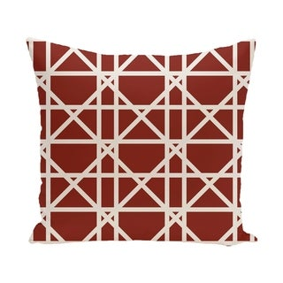 20 x 20-inch Trellis Geometric Print Pillow (Orange)