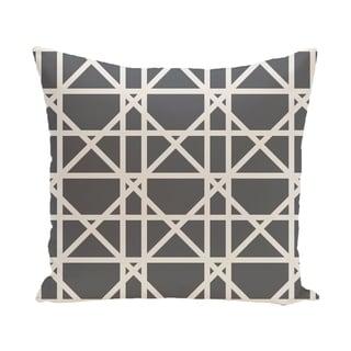 20 x 20-inch Trellis Geometric Print Pillow (Gray)