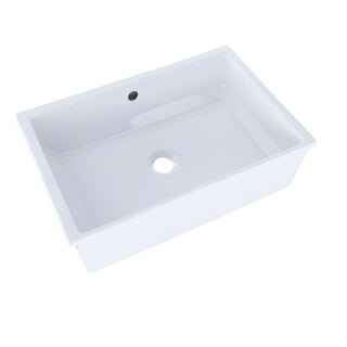 Toto LT156#01 Cotton White Vernica Undermount Clay 14.13 21.50 Bathroom Sink