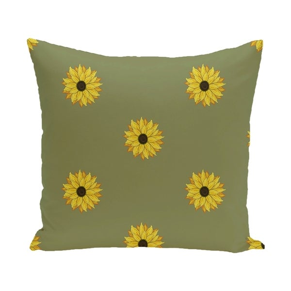 26 x 26-inch SunFloral Frenzy Floral Print Pillow