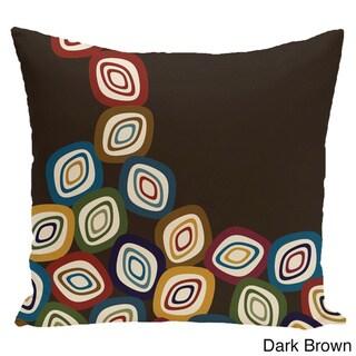 18 x 18-inch Falling Leaves Geometric Print Pillow (Dark Brown)