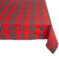 Holiday Plaid Tablecloth
