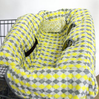 Pam Grace Creations Argyle Grocery Cart Cover