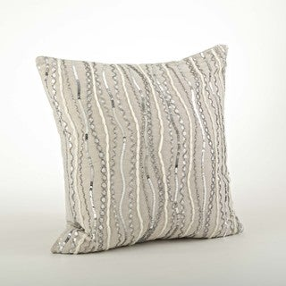 Beaded Design Throw Pillow