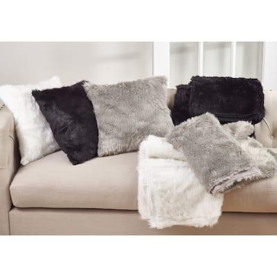 Faux Fur Throw Down Filled Pillow