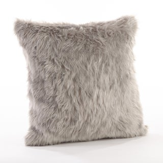 Faux Fur Throw Down Filled Pillow (Option: Grey, 20 inches long x 20 inches wide)