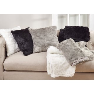 Faux Fur 20-inch Throw Pillow