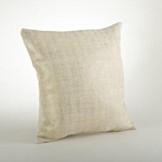Foil Design Burlap 20-inch Throw Pillow