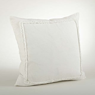 Linen Ruffled Design 20-inch Throw Pillow