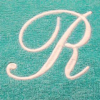 Authentic Hotel and Spa Turkish Cotton Terry Monogrammed Aqua Green Women's Spa and Shower Towel Wrap