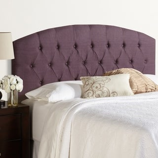 Humble + Haute Halifax King Size Iris 100-percent Linen Curved Upholstered Headboard