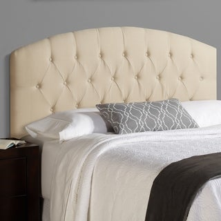 Humble + Haute Halifax King Size Ivory 100 Linen Curved Upholstered Headboard