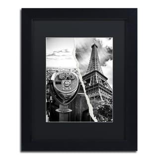 Philippe Hugonnard 'Looking Away' Black Matte, Wood Framed Wall Art
