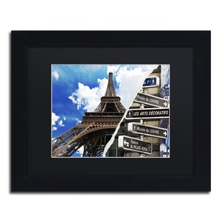 Philippe Hugonnard 'Afternoon in Paris' Gold Ornate Framed Wall Art