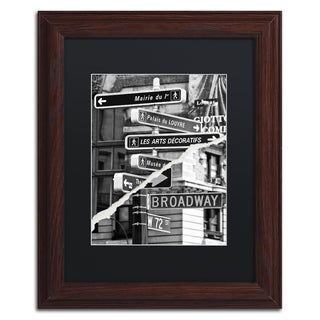 Philippe Hugonnard 'The Louvre or Broadway' Gold Ornate Framed Wall Art