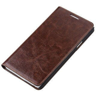 Vicenzo Leather Hudson Samsung Galaxy S6 Genuine Leather Folio Flip Book Wallet Protective Case