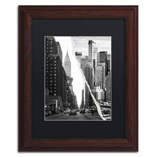 Philippe Hugonnard 'Downtown City' Black Matte, Black Framed Wall Art