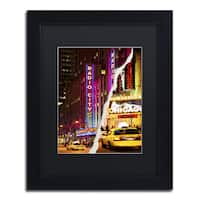 Philippe Hugonnard 'Taxis Manhattan' Black Matte, Black Framed Wall Art