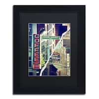 Philippe Hugonnard 'New York Atmosphere' Black Matte, Black Framed Wall Art
