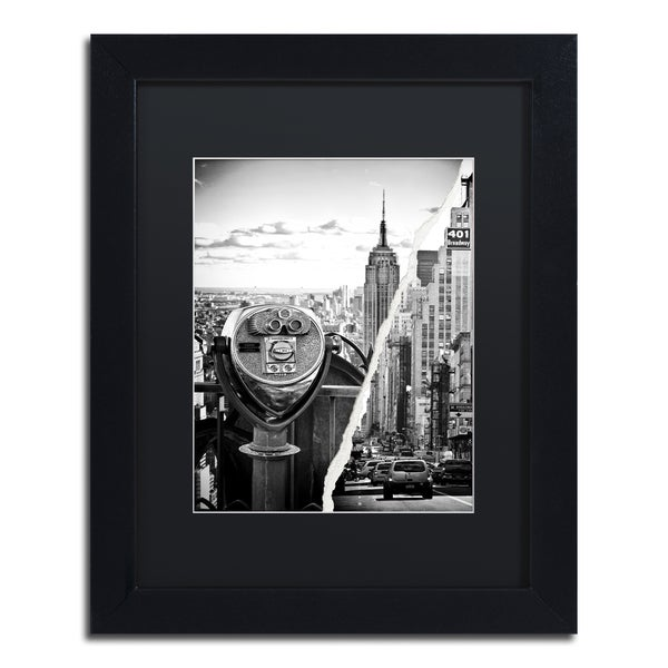 Philippe Hugonnard 'Looking to New York City' Black Matte, Black Framed Wall Art