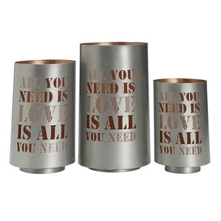 Studio Nova 'All You Need Is Love' Metal Luminaries (Set of 3)