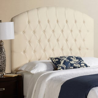 Humble + Haute Halifax Tall Ivory 100-percent Linen Curved Upholstered Headboard