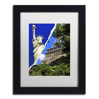Philippe Hugonnard 'Eiffel, Thank You!' Black Matte, Wood Framed Wall Art