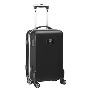 Denco Sports NBA Brooklyn Nets 20-inch Hardside Carry On Spinner Upright Suitcase