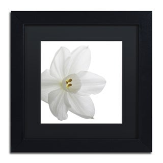 Kurt Shaffer 'Paper White' Black Matte, Wood Framed Wall Art