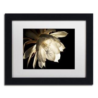 Kurt Shaffer 'Midnight Portrait' White Matte, Black Framed Wall Art